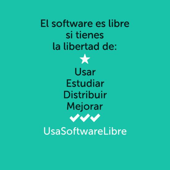 libertades del software libre