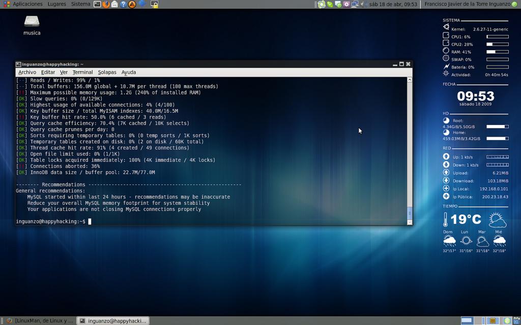 Revisando las recomendaciones de MySQL Tuner
