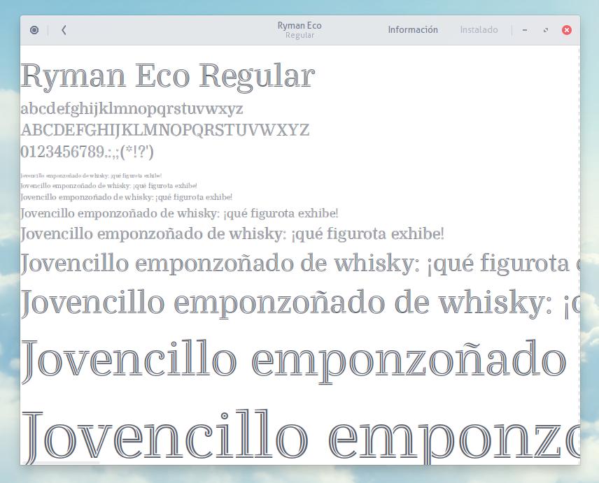 Ryman Eco Font