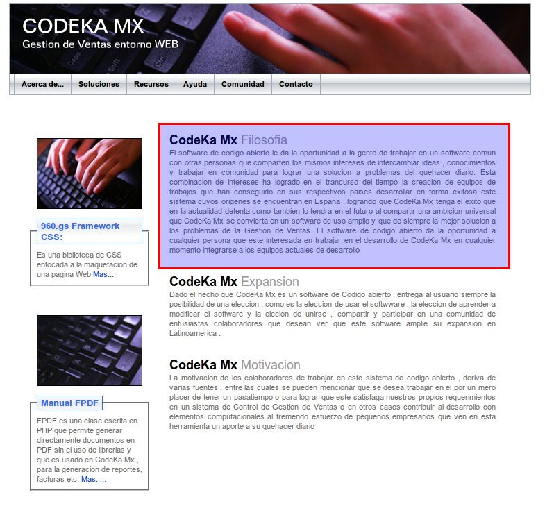 Codeka Maximun - Filosofía - CodekaMX Software Libre