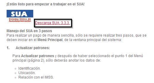 Descargar el SUA 3.3.3 en el Infonavit