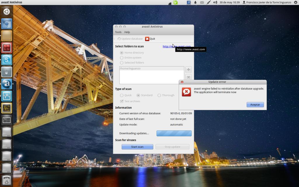 El problema de la actualización de Avast para Linux