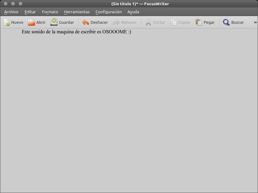 FocusWriter, un editor de texto minimalista