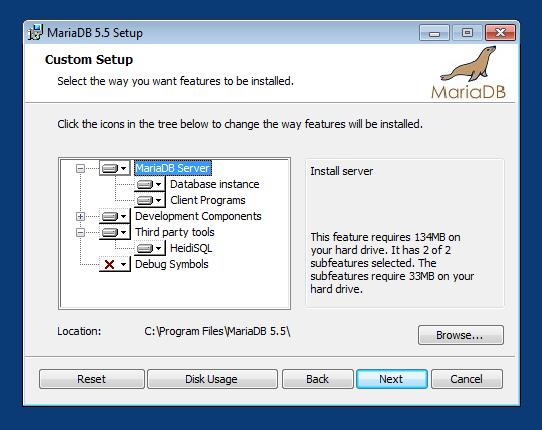 Instalación de MariaDB