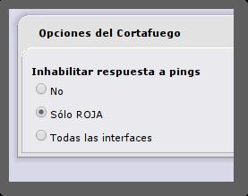IPCop, Opciones del cortafuegos.