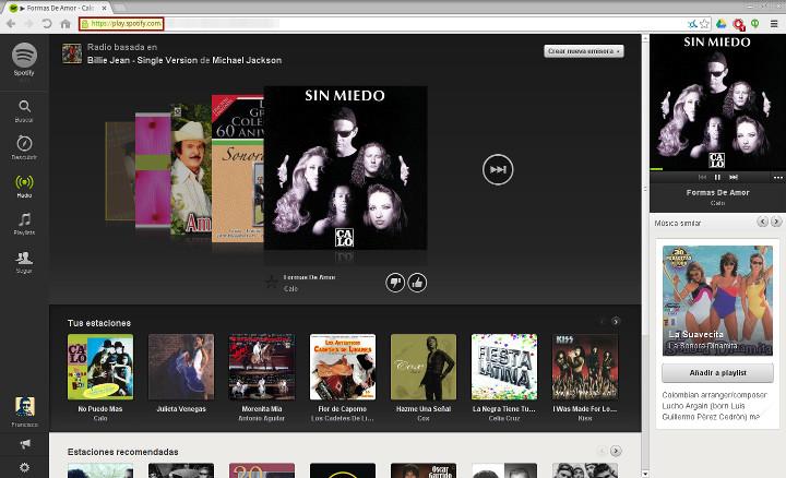 Play Spotify (versión web)