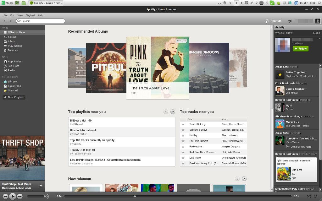 Spotify en Manjaro Linux