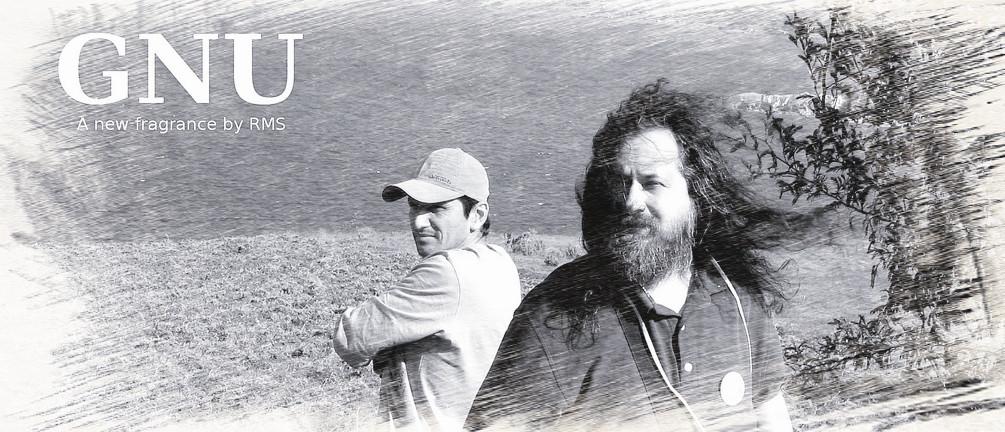 Richard Stallman en la Laguna (imagen de Jeff McNeill)