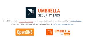 hsbc com mx opendns malware
