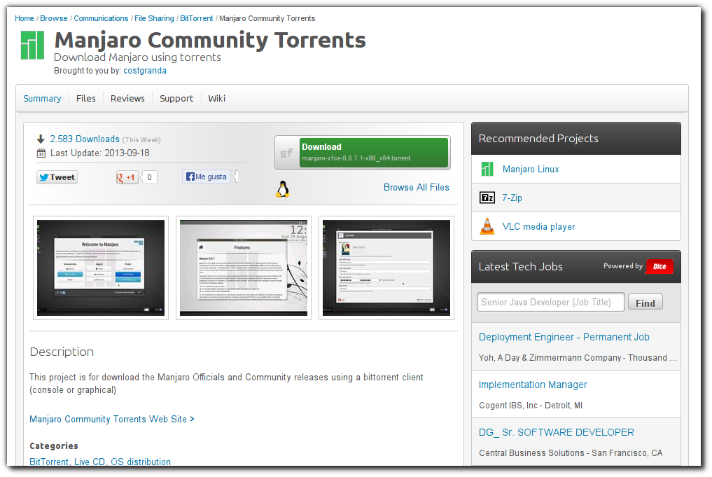 Manjaro Community Torrents