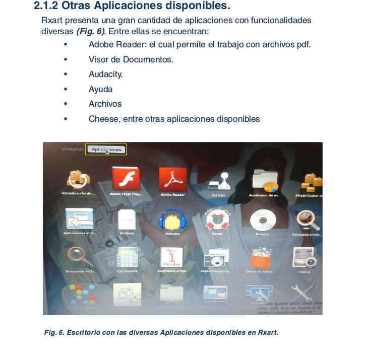 Una página del manual técnico de micompumx