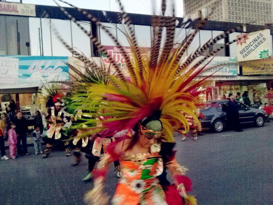 danzante azteca - peregrinaciones 2013