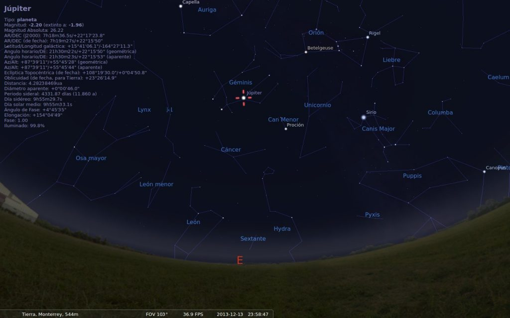 Lluvia de meteoros gemínidas 2013