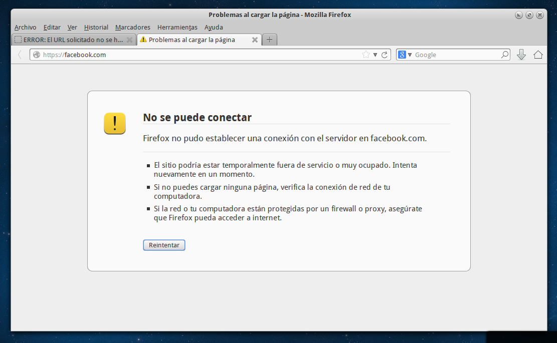 bloqueo de facebook en conexiones seguras https