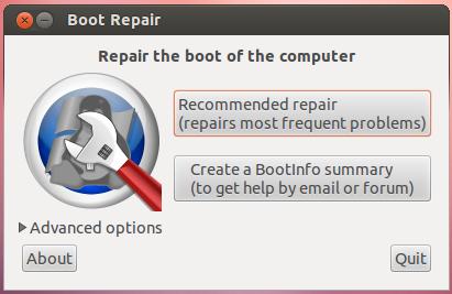 boot-repair una herramienta para recuperar GRUB de manera automática