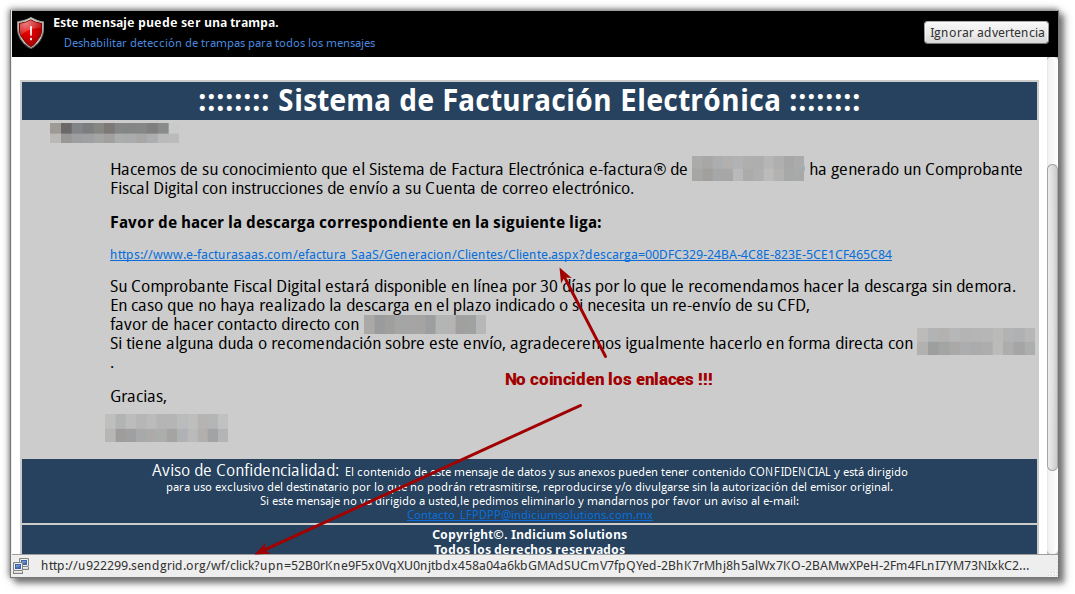 facturas electronicas falsas