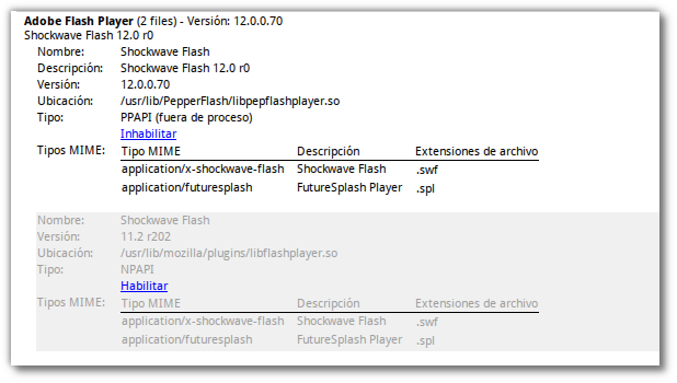 adobe flash player y pepper en chromium 2 files