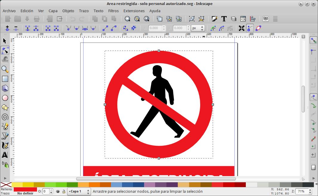Editando un letrero con Inkscape