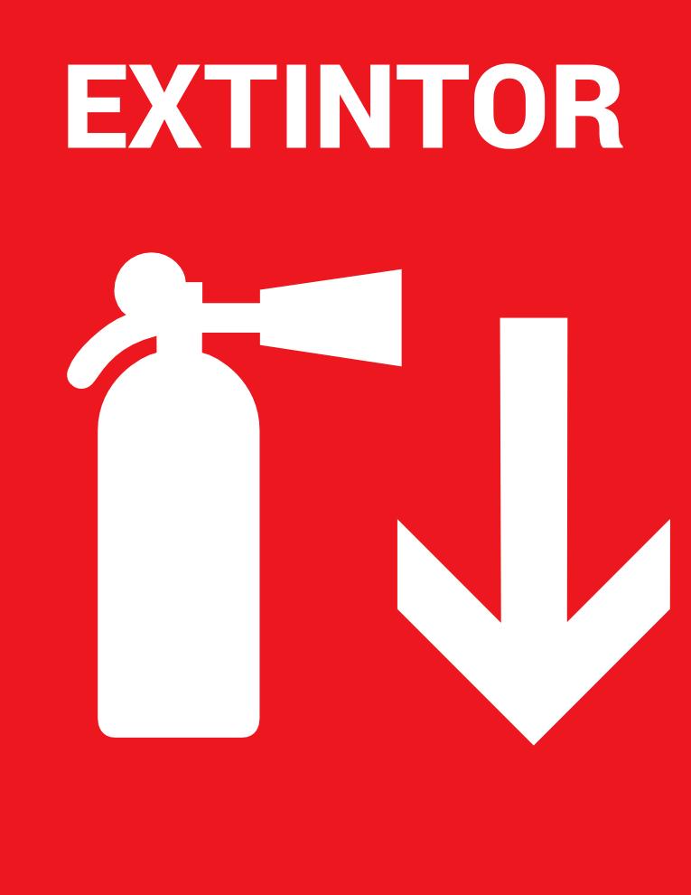 Letrero de Extintor