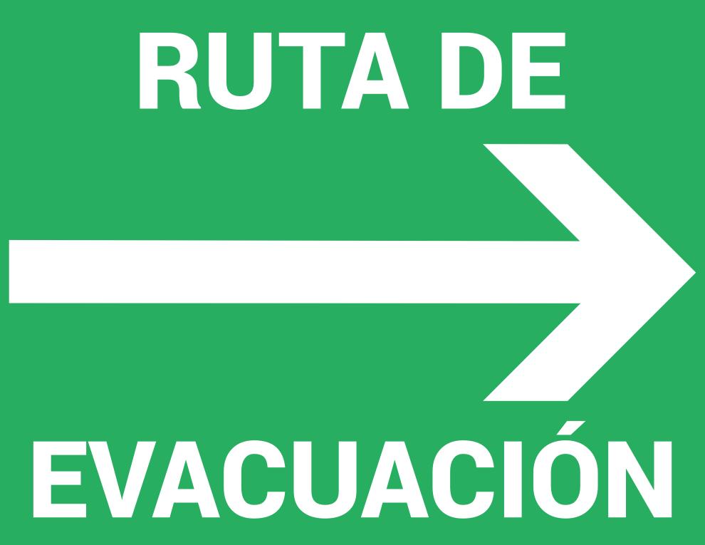 Letrero de Ruta de evacuación