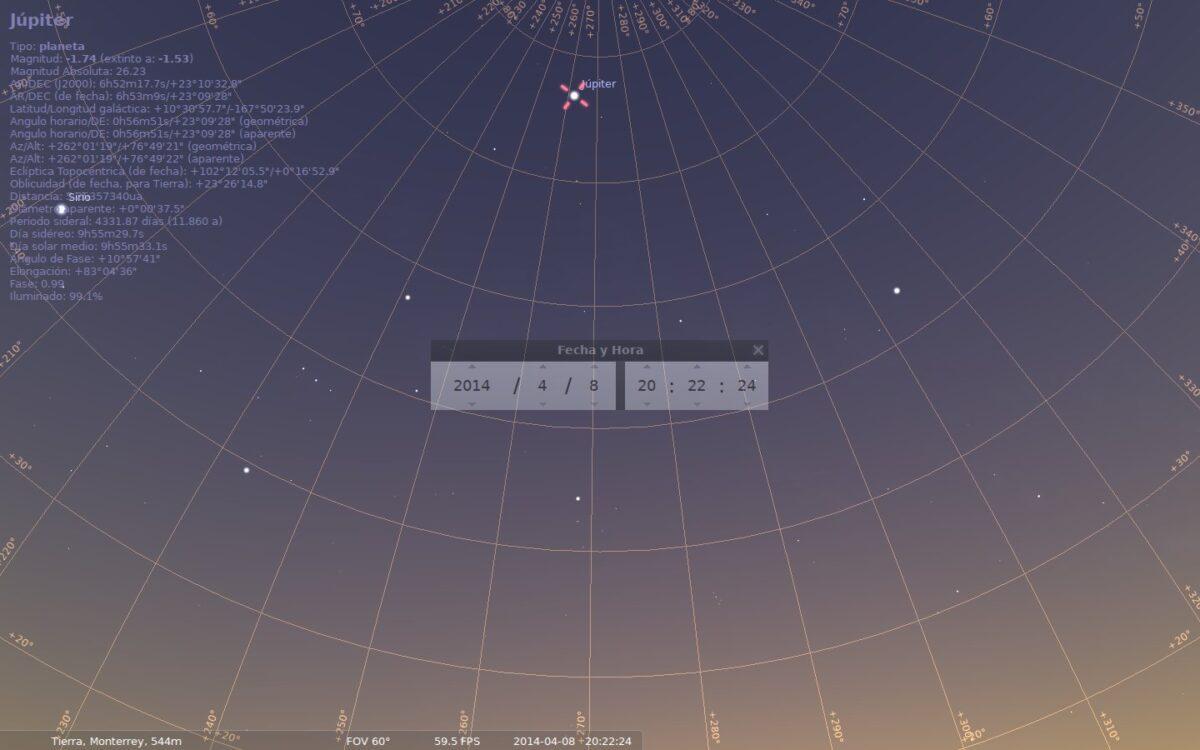 stellarium júpiter abril 2014
