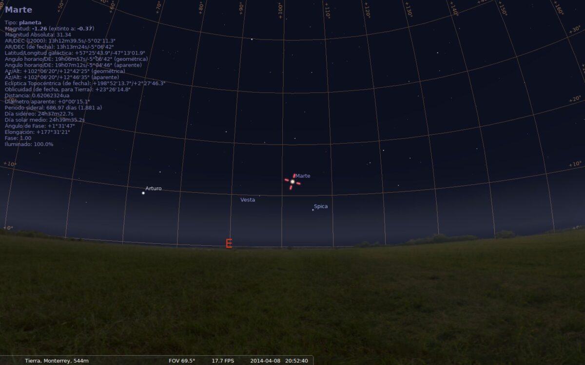 stellarium marte abril 2014