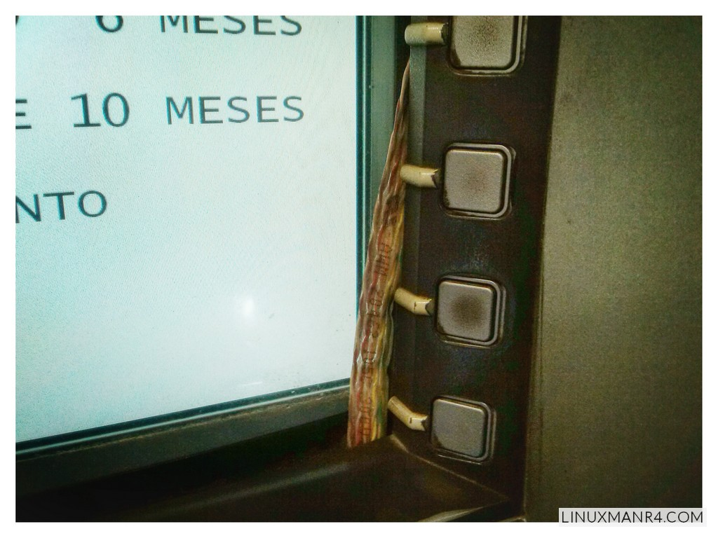 Algo no esta bien con este cajero automático