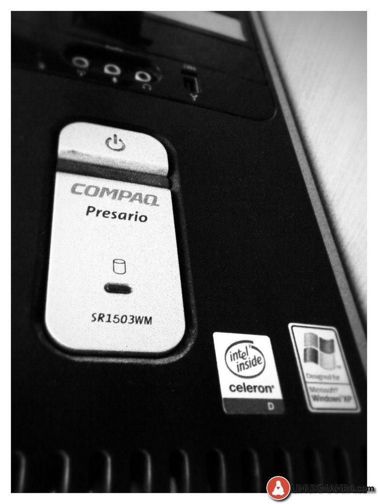 Compaq Presario SR1503WM de windows xp a manjaro linux