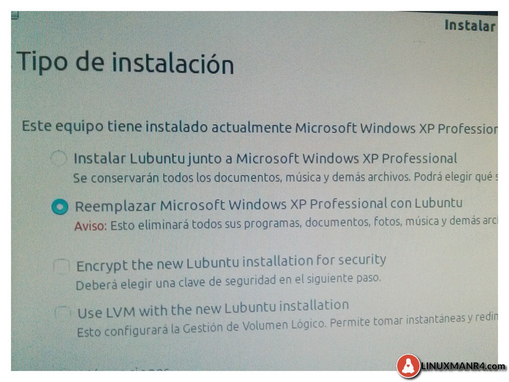 Reemplazar Windows XP con Lubuntu