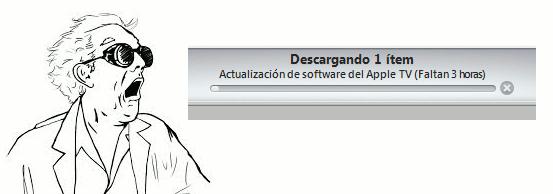 Mensaje de iTunes Descargando el software de actualización