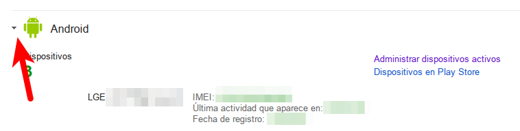 dispositivos android imei