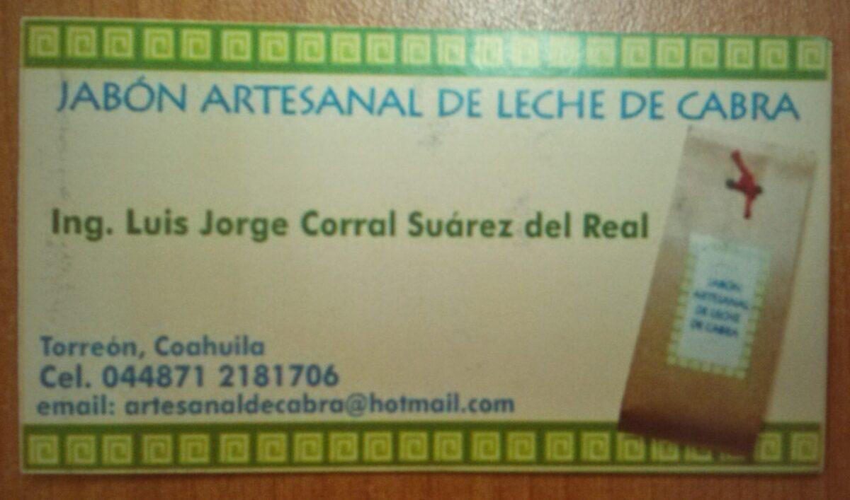 Jabón Artesanal a base de leche de cabra