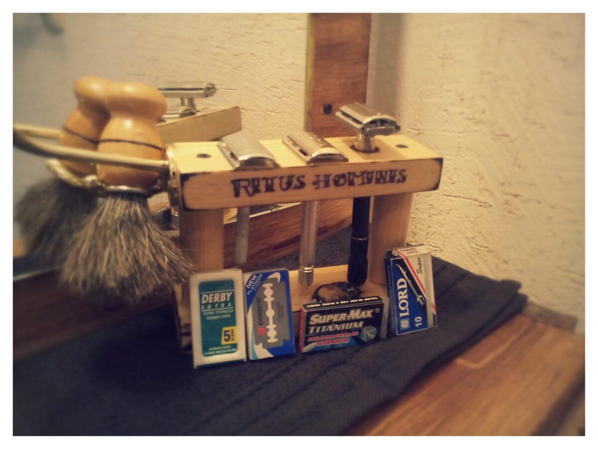 Soporte para máquinas de afeitar vista frontal