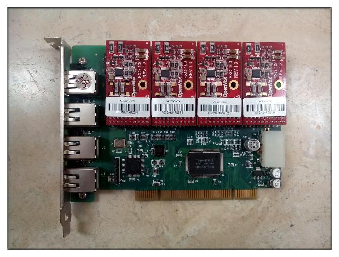 Tarjeta OpenVox A400P