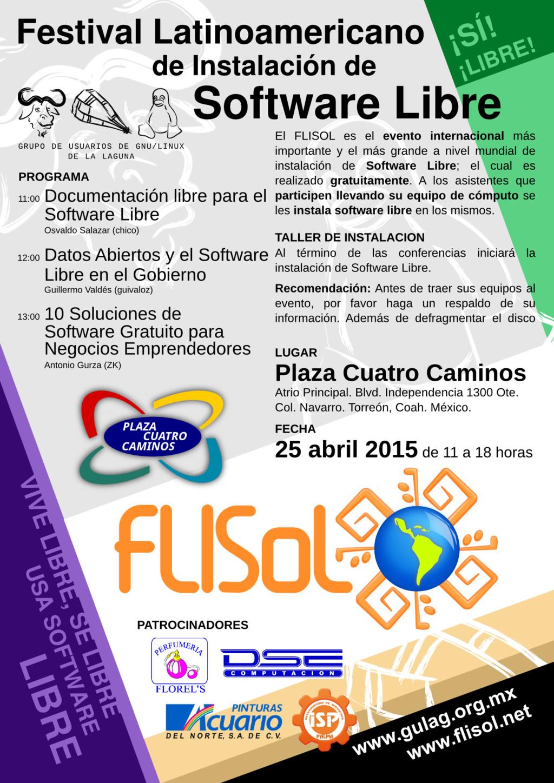 Póster del FLISOL 2015