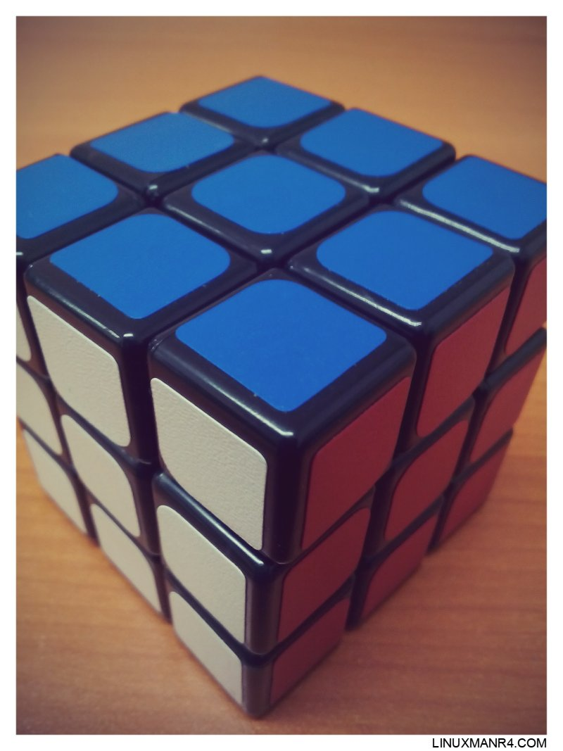 El cubo de rubik solucionado