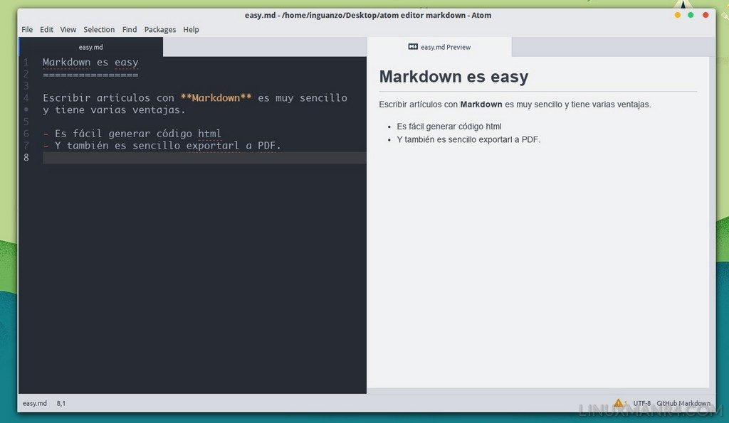 Vista previa del código