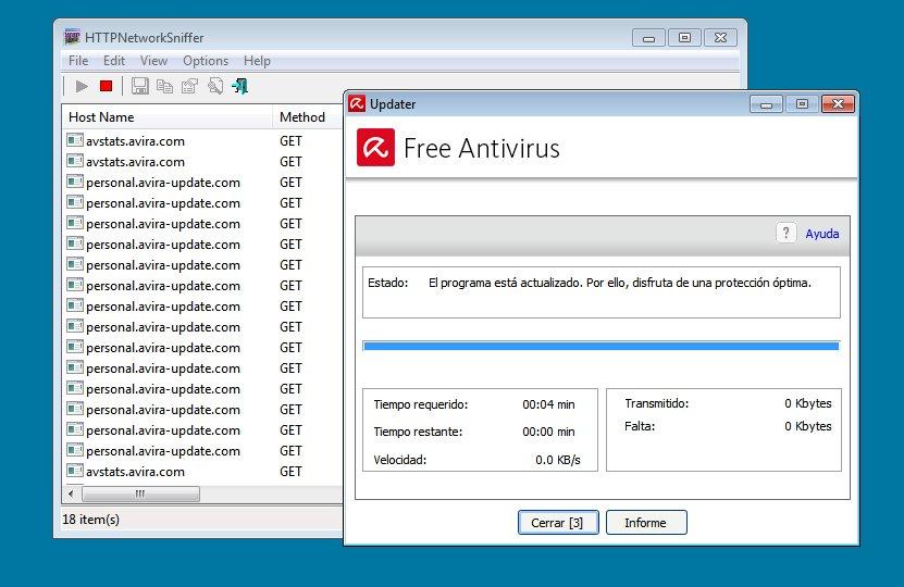 update accelerator avira - HTTPNetworkSniffer Avira