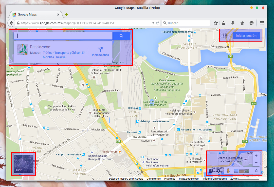 Página de Google Maps