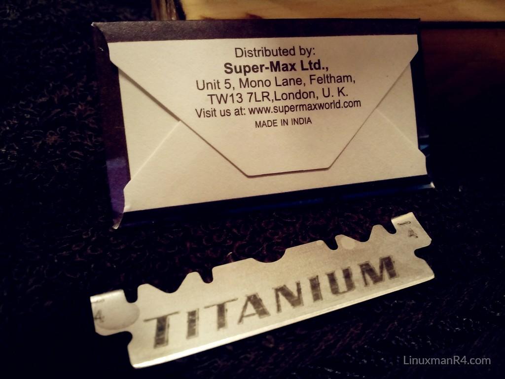 Super-max Titanium Hoja de afeitar