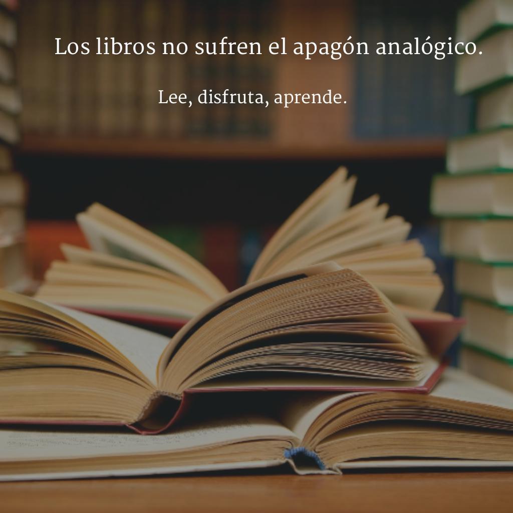 Los libros no sufren el apagón analógico