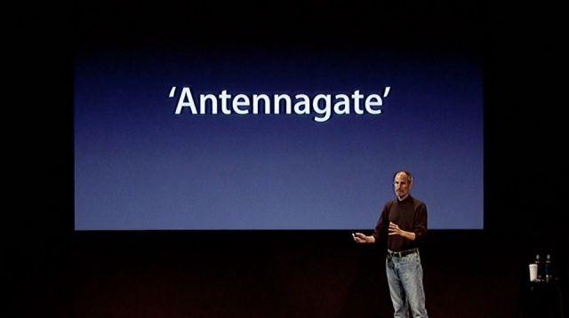 steve jobs explicando el antennagate