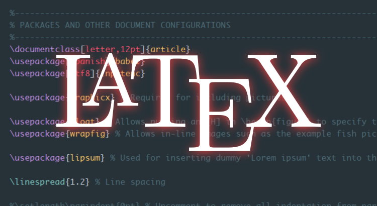 Aprendiendo a generar documentos con LaTeX