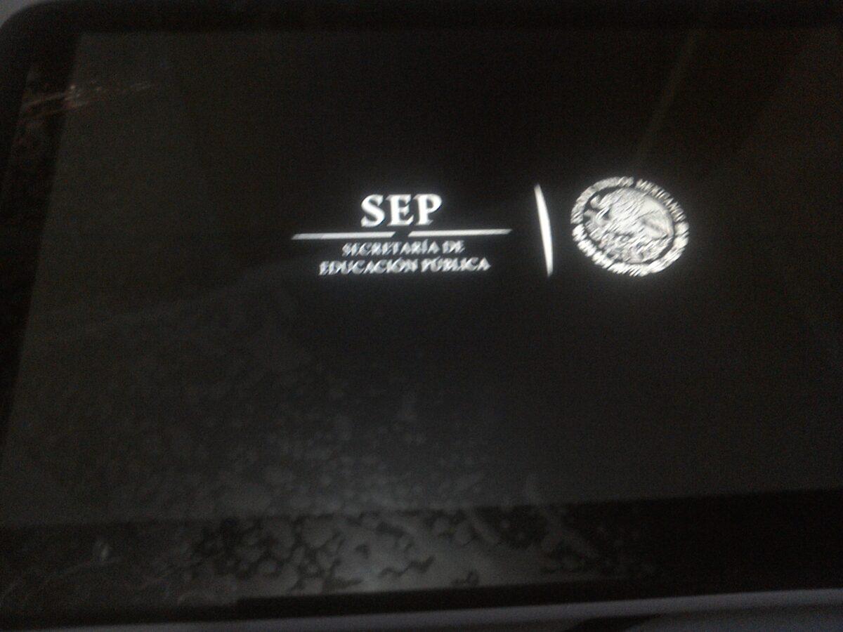 Simbolo de la SEP durante el arranque