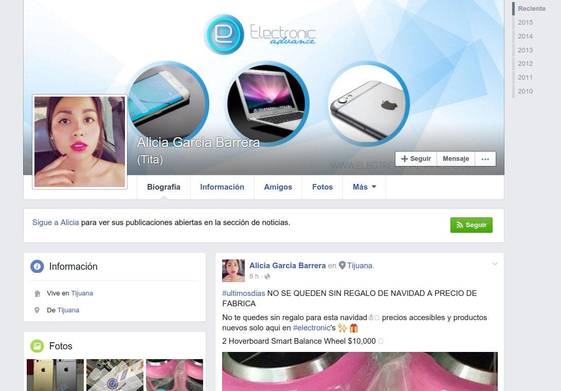 perfil en facebook de Alicia Garcia Barrera