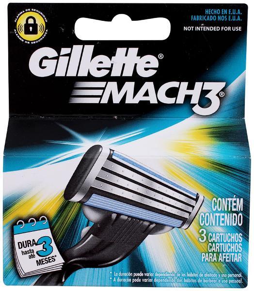 Cartuchos de Gillette Mach 3 con 3 piezas