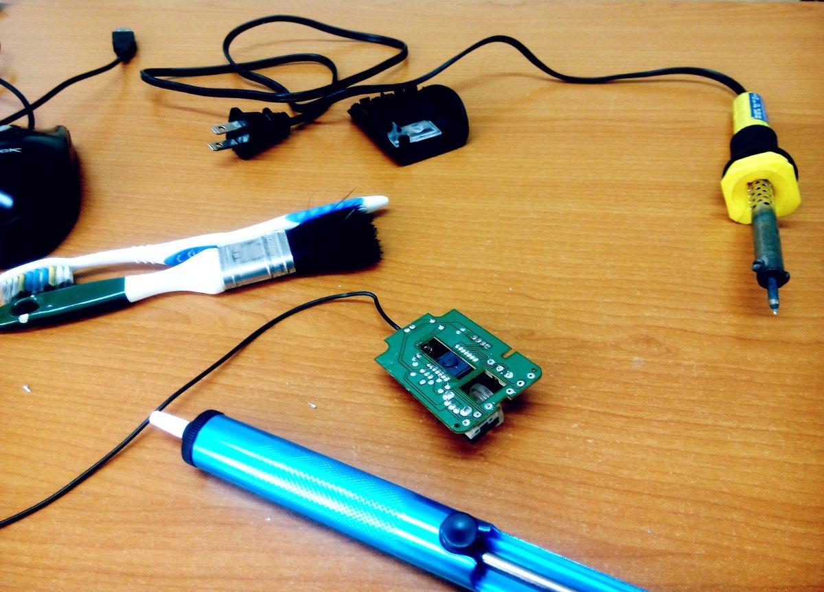 Cautín y Desoldador | sustituir los botones del mouse