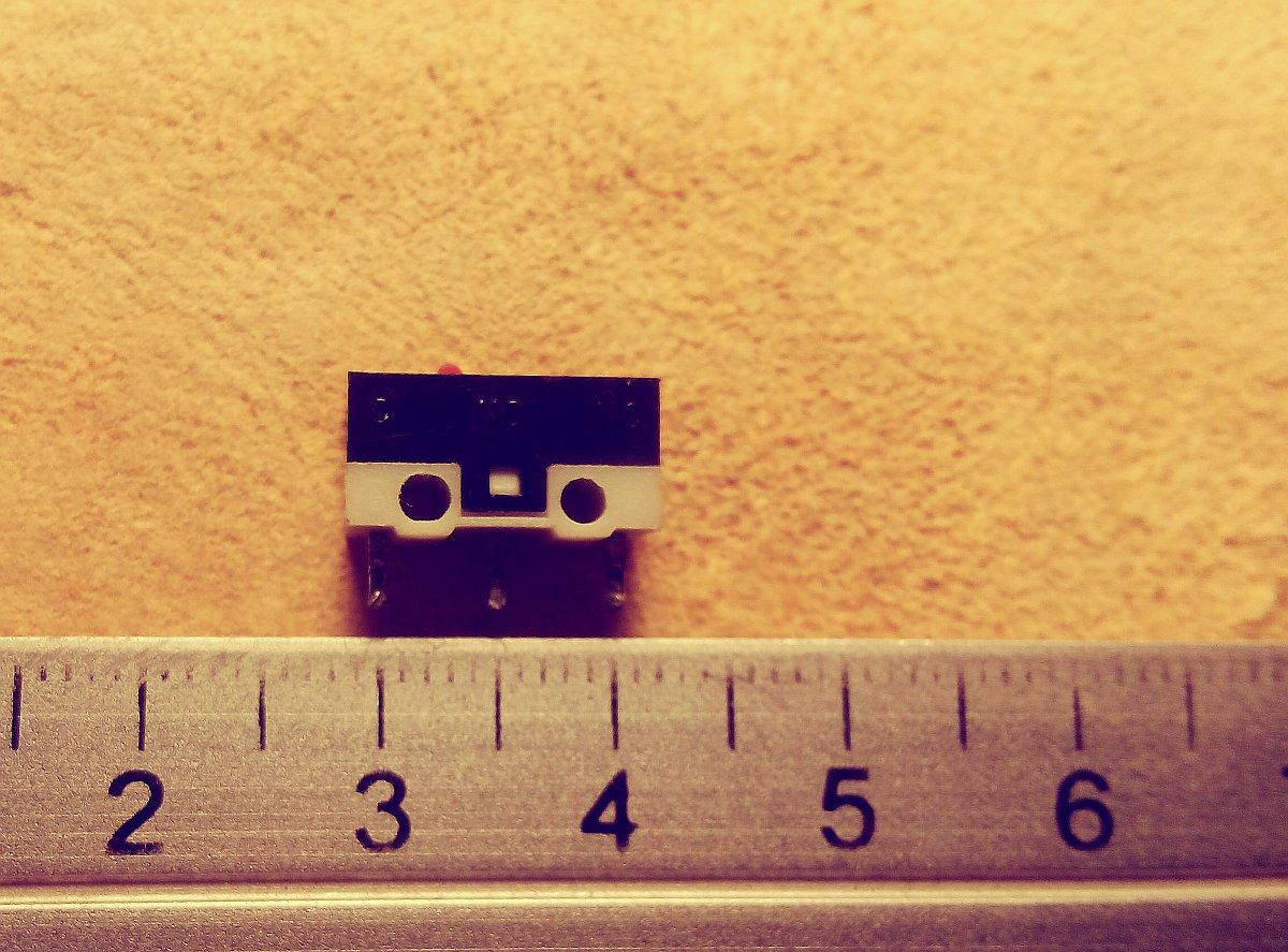 Dimensiones del microswitch | sustituir los botones del mouse