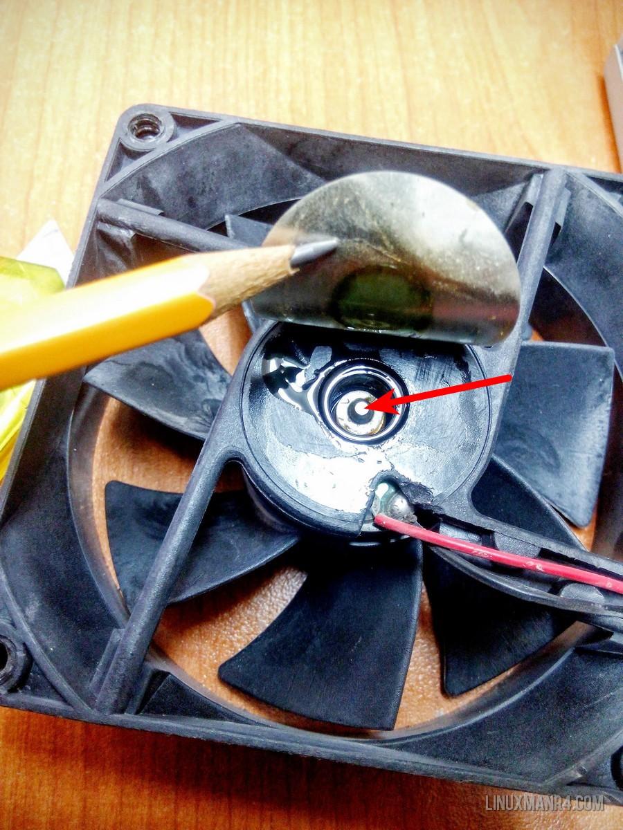 Punto de lubricación del ventilador