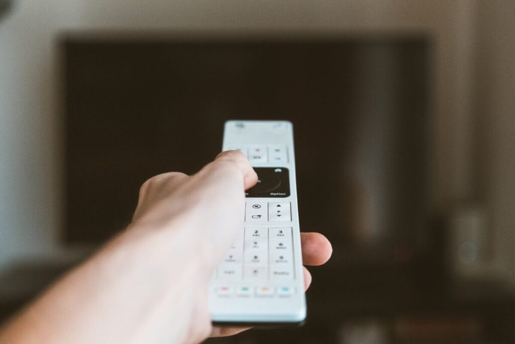 white remote